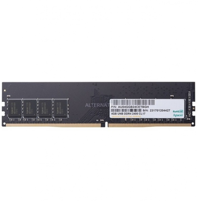 RAM Apacer UDIMM 4 GB PC-4 DDR4 2400 MHz for PC (1)