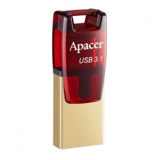 Flesh kart Usb: Apacer 32 GB USB 3.1 Type-C AH180 Red