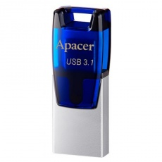 Флеш карту usb: Apacer 16 GB USB 3.1 Gen1 micro USB AH179 Blue (Android)