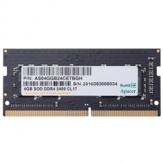 RAM: Apacer SODIMM 4 GB PC-4 DDR4 2400 MHz for NB (AS04GGB24CETBGH)