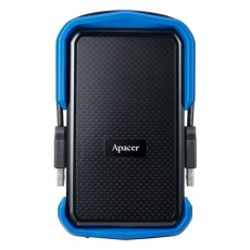 HDD: Apacer 1 TB USB 3.1 Portable Hard Drive AC631 Blue Shockproof