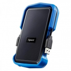 HDD: Apacer 2 TB USB 3.1 Portable Hard Drive AC631 Blue Shockproof
