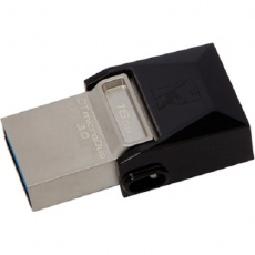 Флеш карту usb: Kingston 16GB USB 2.0 DataTraveler Micro Black