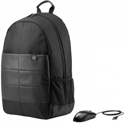 HP 15.6 Classic Backpack and Mouse