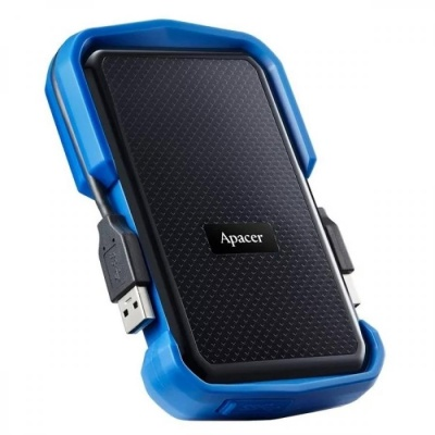Apacer 1 TB USB 3.1 Portable Hard Drive AC631 Blue Shockproof