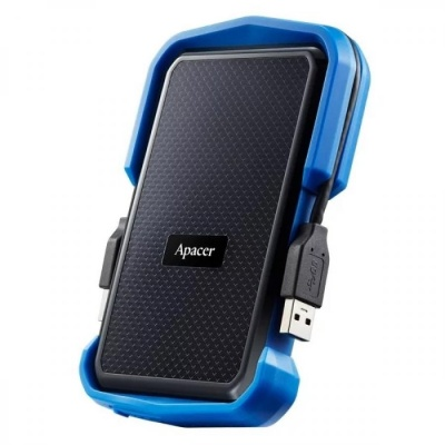 Apacer 2 TB USB 3.1 Portable Hard Drive AC631 Blue Shockproof