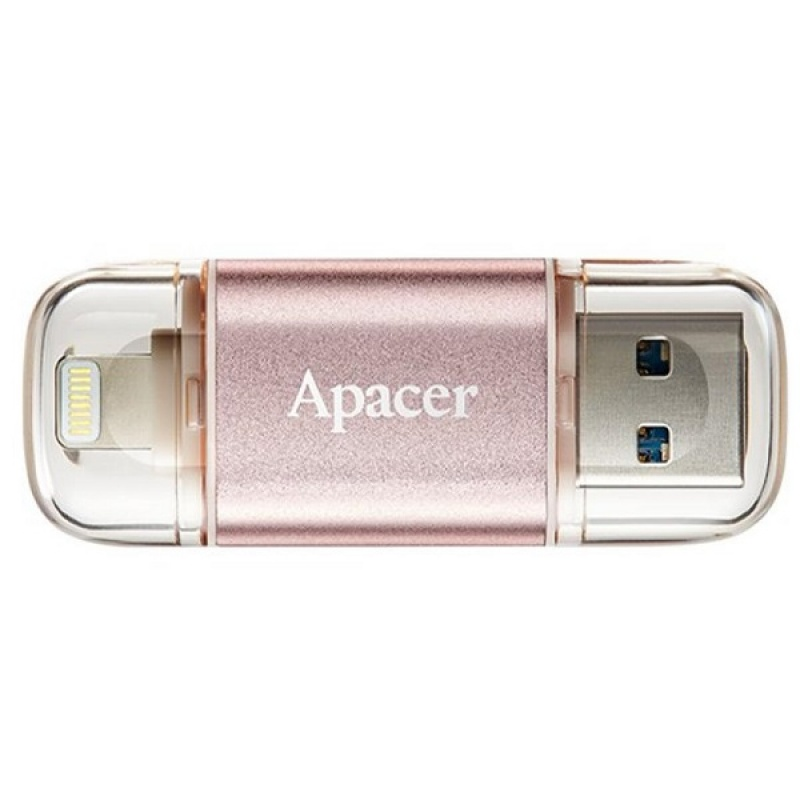 Flesh kart Usb Apacer 64 GB  USB 3.1 Gen1 Lightning AH190 Rose Gold (IOS & Mac) (3)