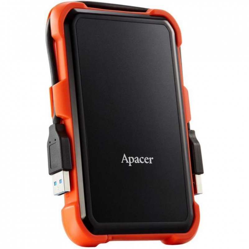 HDD Apacer 1 TB USB 3.1 Portable Hard Drive AC630 Orange Shockproof (2)