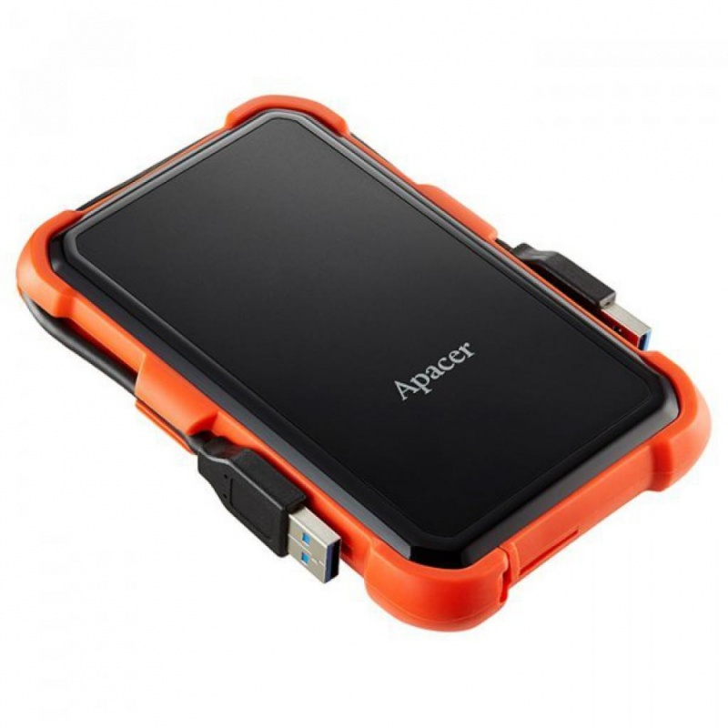 HDD Apacer 1 TB USB 3.1 Portable Hard Drive AC630 Orange Shockproof (4)